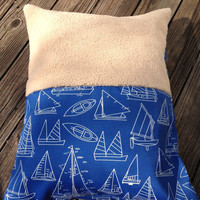 Half & Half Dog Bed Cover with Minky Cuddle Fabric