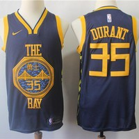 Golden State Warriors #30 Stephen Curry #35 Kevin Durant City Edition Jersey