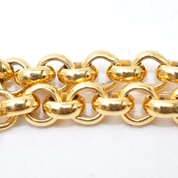 Authentic CHANEL Chain Belt CC Logo Gold Tone CC 36712