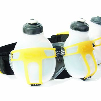 FuelBelt Ironman Collection R3O 3 Bottle Belt, Mango/Carbon, One Size