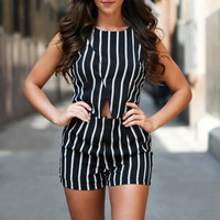 Get Striped Romper