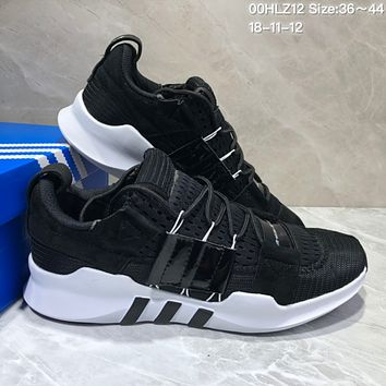 kuyou A354 Adidas EQT-7 Climacool Mesh Running Shoes Black White