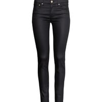 H&M - Skinny Regular Jeans - Black - Ladies