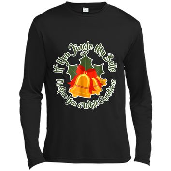 Mens Jingle My Bells Funny Adult Christmas Ugly Gift Long Sleeve Moisture Absorbing Shirt