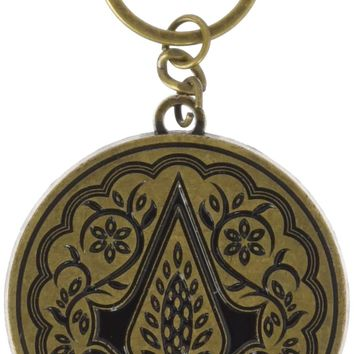 Bioworld Men's Assassins Creed Film Keychain, gold, One Size