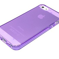 DIGIWAVES U.S.A. - Premium Slim Fit Clear Flexible TPU Gel Soft Skin Case Cover For Apple Iphone 5 5S 5G 5TH - Thick Durable Protective Soft Flexible TPU Crystal Clear Transparent Smooth Back Cover With Unique Large Camera Hole Opening Case For iPhone 5S o