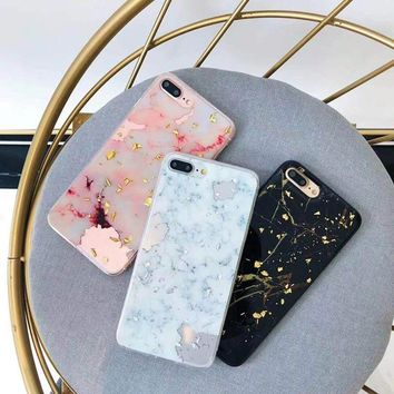 Pink Marble Foil Phone Case