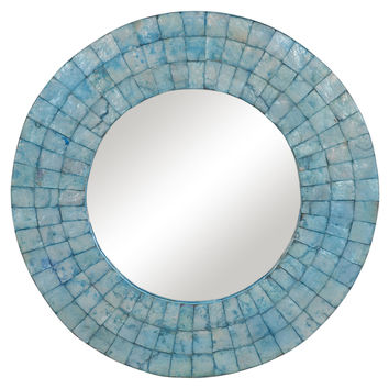 Mirrors, Carlos Wall Mirror, Turquoise, Wall Mirrors