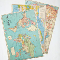 Travel It Won't Be Longitude Print Set by ModCloth