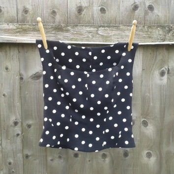 Vintage Black and White Polka Dot Bodice - 1950's Retro Look