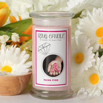 Think Pink Ring Candle