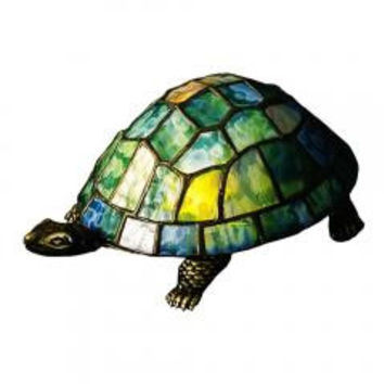 "Meyda Home Indoor Decorative Lighting Accessories 4""H Turtle Tiffany Glass Accent Lamp 10270"