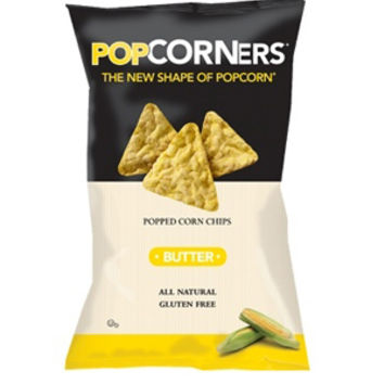 Popcorners Butter Popped Corn Chips 5 oz Bags - Pack of 12