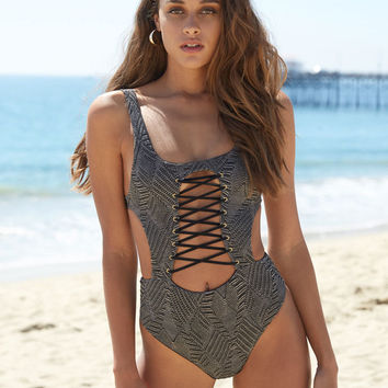 Blue Life Kutula Cutout One Piece Swimsuit at PacSun.com