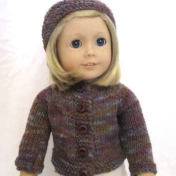 American Girl Sweater Hat Knit Outfit Clothes Set