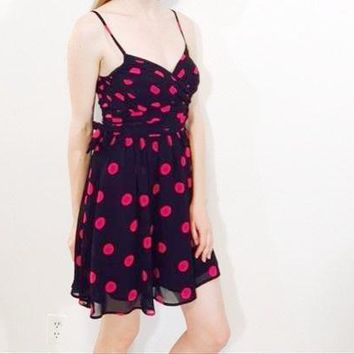 Guess Los Angeles Silk Polka Dot Dress 0 New With Tags