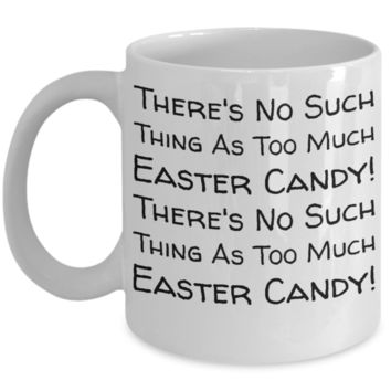 Easter Candy Mug Easter Egg Jar Fun Kid Mug for Children White Bpa Free Chocolate Cookies Jar Coloring Marker Holder Drink Mugs For Cocoa Milk Juice Best Affordable Holiday Gift For Kids 2017 2018 No Such Thing Candy