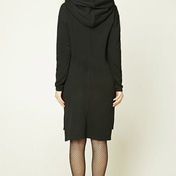 Hooded Fleece Sweater Dress