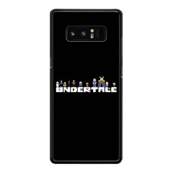 Undertale Logo Chars Samsung Galaxy Note 8 Case