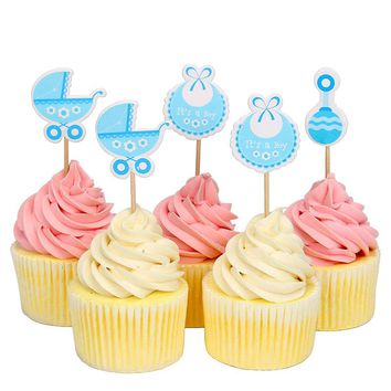 18 Pieces Baby Shower Cupcake Toppers
