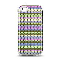 The Colorful Knit Pattern Apple iPhone 5c Otterbox Symmetry Case Skin Set