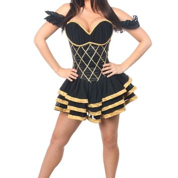 Daisy Corsets Top Drawer Steel Boned Egyptian Corset Dress Costume
