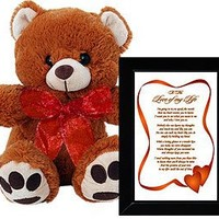 I Love You Gift for Wife, Husband, Boyfriend or Girlfriend - A Perfect Birthday or Anniversary Gift - Includes a Plush Teddy Bear