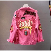 Punk Vogue Denim Jacket
