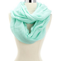 SOLID MINT INFINITY SCARF