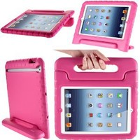 i-Blason ArmorBox Kido Series Light Weight Super Protection Convertable Stand Cover Case for Apple New iPad Mini 7.9 Inch for Kids Friendly (Pink): Beauty