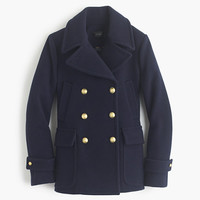 J.Crew Womens Tall Stadium-Cloth Majesty Peacoat