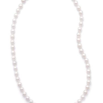 """18"""" Cultured Akoya Pearl Necklace (AAA 6.5-7mm Pearls)"""