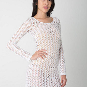 Crochet Long Sleeve Dress | American Apparel