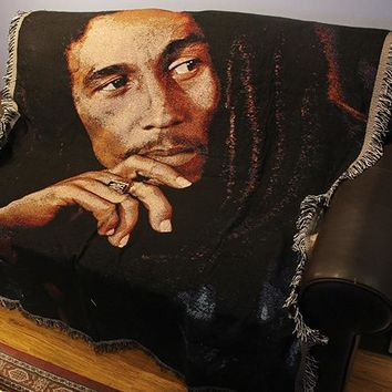 Retro Reggae Music Rock Star Bob Marley carpet Blanket vintage Carpets for sofa retro wall decoration outdoor mat camping mat