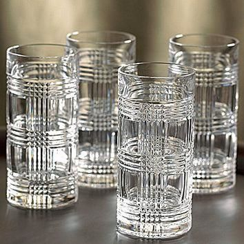 Lauren Ralph Lauren Glen Plaid Highball Glass Set