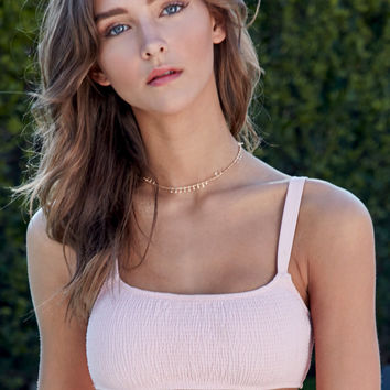 Somedays Lovin Kira Smocked Bralette Bikini Top at PacSun.com