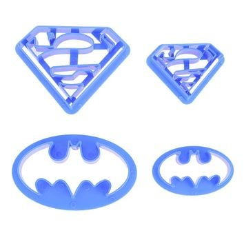 4Pcs/lot Cookie Cutters Super Hero Batman Superman Sugarcraft Mold Pastry Fondant Cake Decorating Tool Kitchen Bakeware