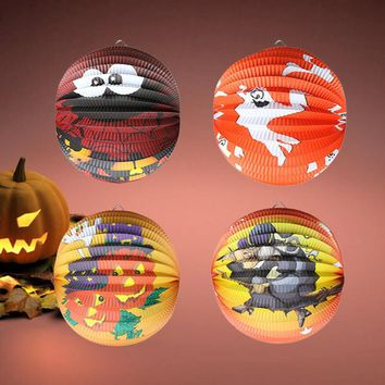 Halloween Pumpkin Paper Lantern, Hanging Light Party Hot Sale High Quality 2018 New Patterns Novel Fantastic for Halloween