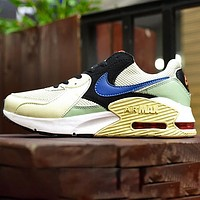 Nike Air Max 90 ESSENTIAL Fashion Contrast Shoes Fresh Colorul Beige blue yellow
