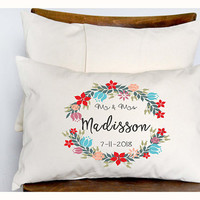 Personalized pillow, Wedding gift , Anniversary gift pillow, Newlywed Gift,Engagement Gift, Bridal shower gift , Wedding gift pillow (P7)