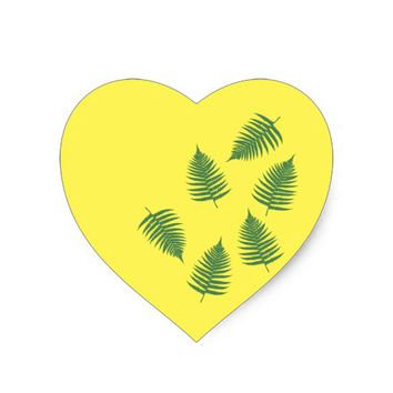 Green Fern Lucky Set Of Stickers