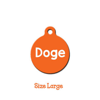 Doge Pet Tag // Dog Tag // Cat Tag // Dog ID // Personalized Tag // Custom Pet ID // Pet Accessories // Funny // Meme // Shiba Inu // LARGE