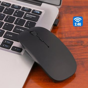 2.4G Wireless Mouse Ultra-Thin 1200DPI Optical Mouse Mice with USB Dongle For Windows 2000 ME XP Vista 7 Laptop PC