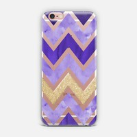 Purple & Gold Chevron iPhone Case