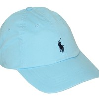 Polo Ralph Lauren Men Pony Logo Adjustable Sport Hat Cap (One size , Blue hammond)