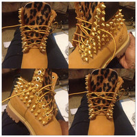 ON SALE Leopard Spike Timberland 113116 by EckoRED on Etsy