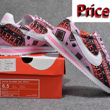Fashion WMNS Nike Classic Cortez X LIBERTY Pink Force Pink Flash MultiColor 746698 300 shoes
