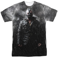 DARK KNIGHT RISES/BANE IN RAIN-S/S ADULT POLY CREW-SUBLIMATE WHITE