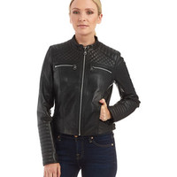 Marc New York Andrew Marc Grace Moto Jacket