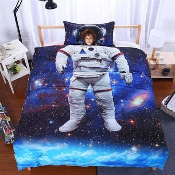 Astronaut in Space 3D Bedding Set